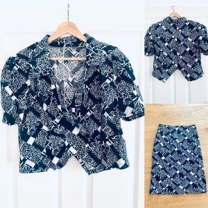 Vintage 80er Style -Sommer Oberteil / Bluse /T-Shirt Puffärmel kurz made in UdSSR Gr. 42/l