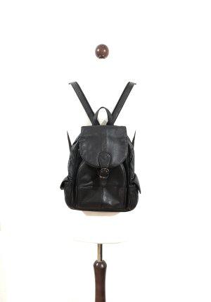 Vintage Schoolrugzak zwart Leer