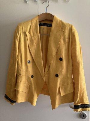 Blacky Dress Blazer corto giallo-oro Lino