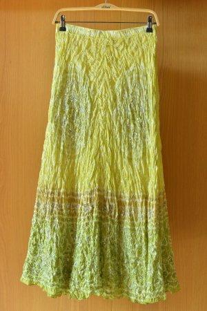 Vintage Jedwabna spódnica Wielokolorowy Jedwab