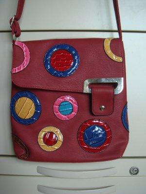 Vintage - 90er Umhängetasche Tasche Shopper Handtasche bunte Ornamente
