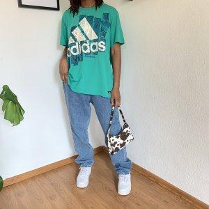 Adidas T-shirt bianco-blu cadetto
