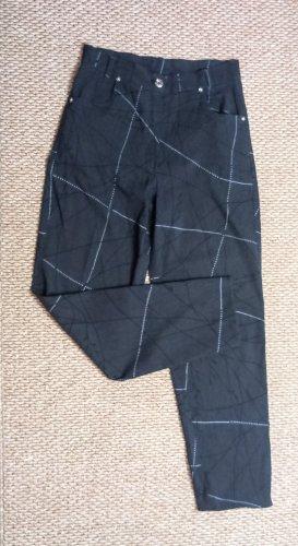Vintage 90s ankle high waist dark grey patterned pants.