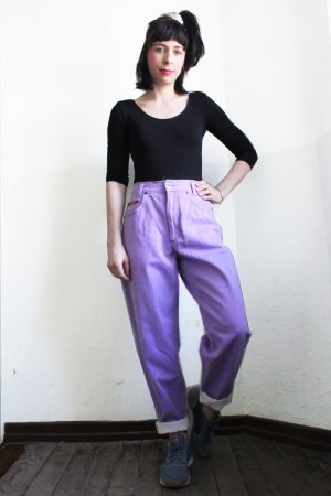 Vintage Hoge taille jeans paars