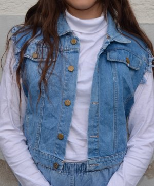 Vintage Denim Vest multicolored