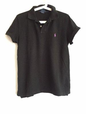 Ralph Lauren Camiseta tipo polo negro-violeta oscuro