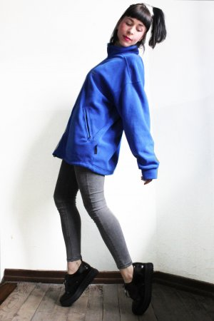 Vintage 90s Sports Oversize Fleece Jacket