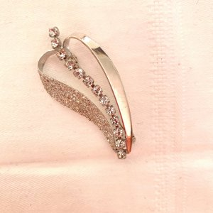 Vintage Brooch silver-colored-white