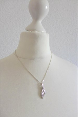 Vintage 925 Sterling Silber Halskette mit Anhänger 70er 80er