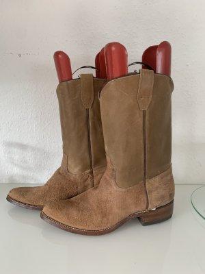 Boots western brun cuir