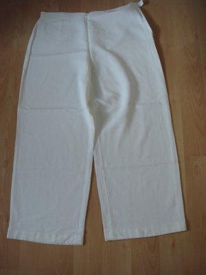 Vintage Pantalón anchos blanco tejido mezclado