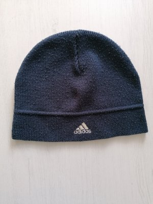 Adidas Stoffen muts wit-donkerblauw