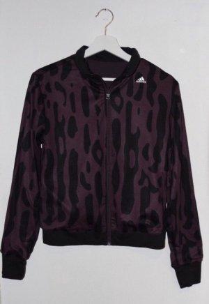 Adidas Chaqueta de tela de sudadera negro-violeta oscuro