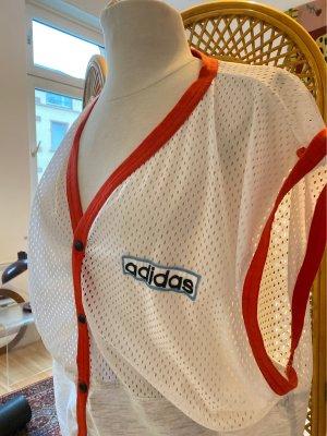 Adidas Camisa de malla blanco-rojo