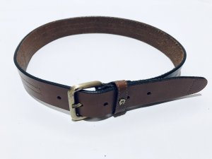 Aigner Leather Belt brown-gold-colored