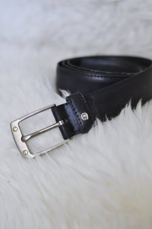 Aigner Leather Belt dark blue