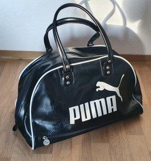 Vintage. alte limitierte Puma Ledertasche Bowlingbag Weekender