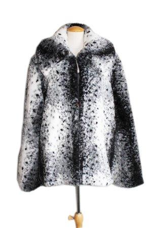 Vintage Giacca di pelliccia bianco-nero