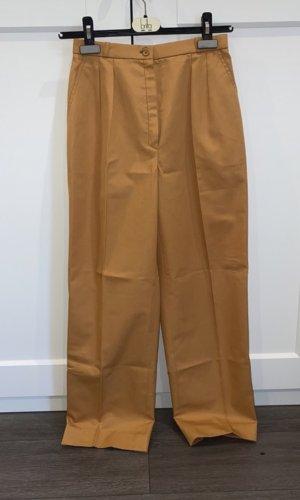 Vintage Pantalon à pinces rouille-orange foncé