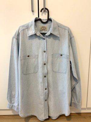 Armani Jeans Chemise en jean bleu azur