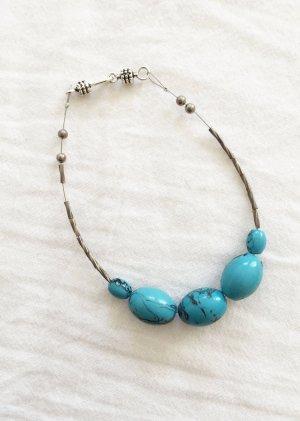 Vintage Armband mit großen Türkisen Perlen