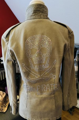Philipp Plein Long Jacket taupe cotton