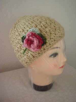 Vintage Crochet Cap multicolored