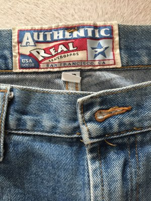 Authentic Jeansy błękitny