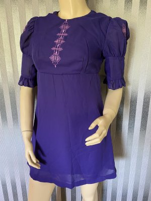 Vintage Babydoll-jurk donkerpaars
