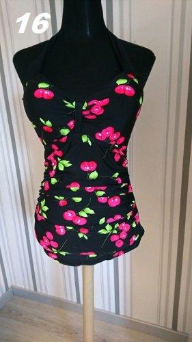 Swimsuit black-pink mixture fibre