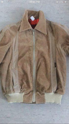 Vintage baggy beige breite Jacke, corduroy jacket