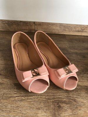 Vintage Ballerinas Peep Toe 41 rosa rosé gold pink