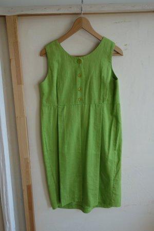 Balloon Dress grass green viscose