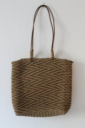 Basket Bag brown-olive green