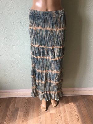 Vintage Batik Maxirock Streifen Türkis Tiedye