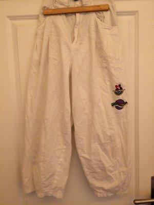 Pantalone largo bianco Cotone