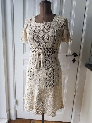 Handmade Sukienka boho jasnobeżowy