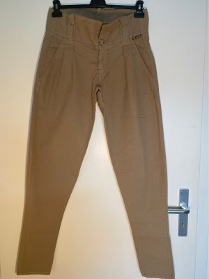 Belstaff Peg Top Trousers beige-camel cotton