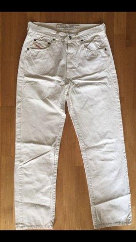 Diesel Hoge taille jeans wolwit-wit