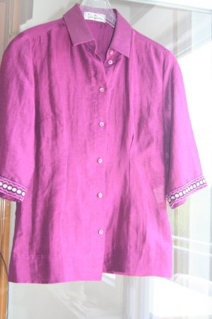 Betty Barclay Linnen blouse magenta Linnen