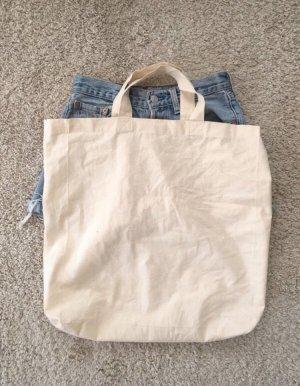 Bolso de tela blanco puro-crema