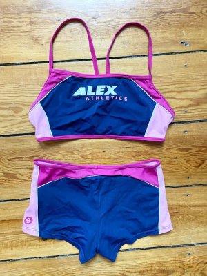 Vintage Bikini von Alex Gr.40 Rosa Bademode Bustier und Slip