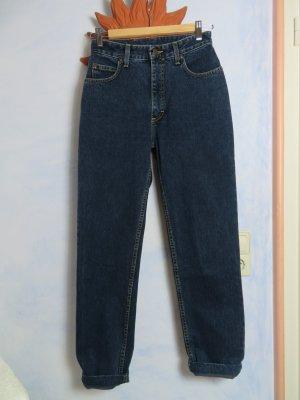 Vintage Blau Lee Mom Jeans - Größe S XS - Taillenjeans 100% solid Cotton
