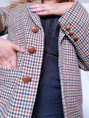 Blazer en laine multicolore