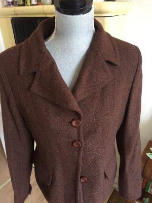 ETHIC Tweed Blazer dark brown-brown