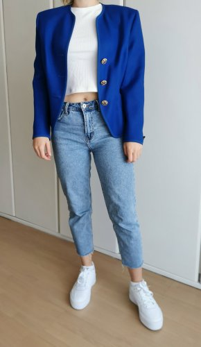 Vintage Blazer in lana oro-blu Lana