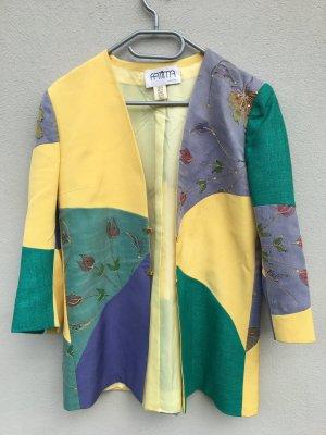 Vintage Blazer  grün gelb blau mit Blumen