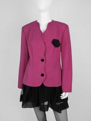 Vintage Blazer in Pink mit wellenförmigen Besatz