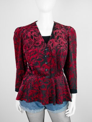 Linek Modelle exclusiv Queue-de-pie noir-rouge fibre synthétique