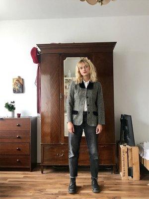 Vintage Blazer mit Samtkragen